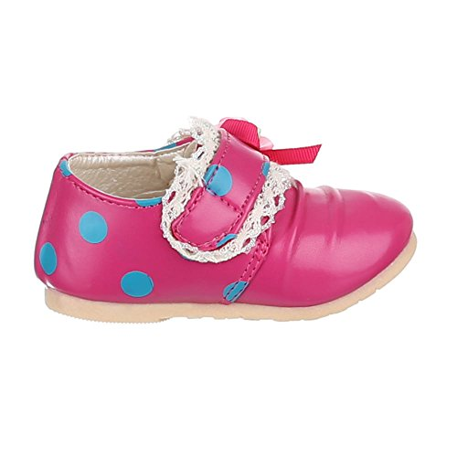 Kinder Schuhe, 223-50, BALLERINAS MIT DEKO VERZIERTE Pink