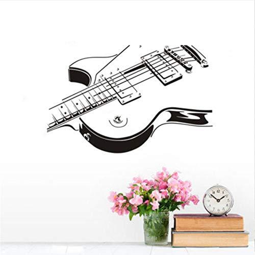 Meaosy adesivi murali chitarra adesivi murali stickers per la casa decorazioni per la casa design per chitarra carta da parati rimovibile strumento musicale wall art 1509