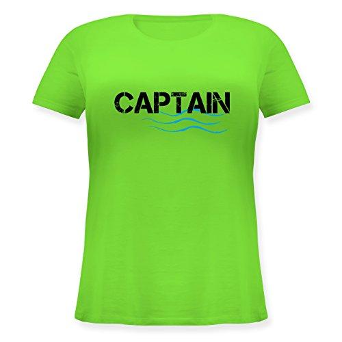 Wassersport - Captain - Lockeres Damen-Shirt in großen Größen mit Rundhalsausschnitt Hellgrün