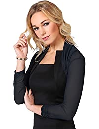KRISP® Damen Eleganter Vintage Bolero Retro Pailletten Jacke Party