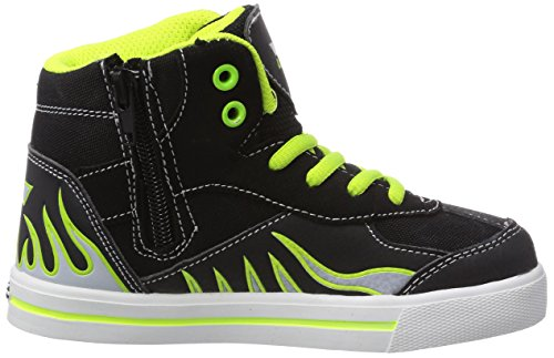 Lico Footballstar Jungen Hohe Sneakers Schwarz (schwarz/grau/lemon)