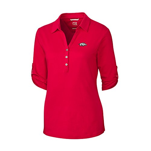 Cutter & Buck 3/4 Sleeve Thrive Polo, Damen, 3/4 Sleeve Thrive Polo, rot, Medium