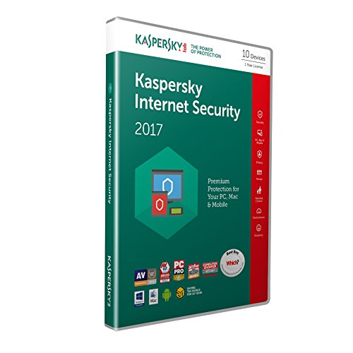 Kaspersky Internet Security 2017 - 10 Devices, 1 Year (PC/Mac/Android)