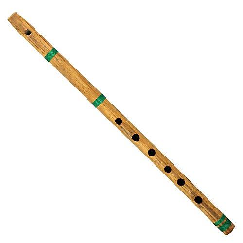 Indische Musikinstrumente Bambus Querflöte Bansuri Kernspalte Type 43 cm