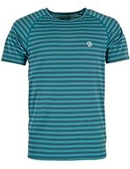 Ternua ® Imron Camiseta, Hombre, Duck Blue Stripes, ...
