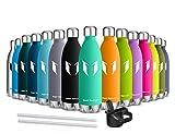 Die besten Immer isolierte Edelstahl-Wasserflaschen - Super Sparrow Trinkflasche/Wasserflasche Doppelwandig Vakuum Isoliert Edelstahl Bewertungen