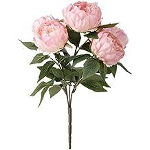 1 Ramo de Simulación Flor Peonía Rosada Decoración para Hogar Plantas Artificiales