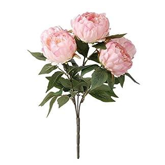 Ramo de flores, peonía artificial de seda, para decoración en bodas, el hogar