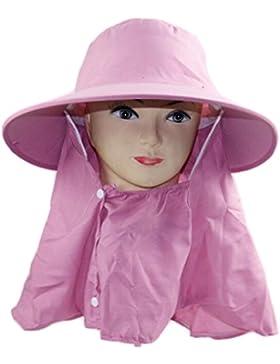 Outdoor Cappello Da Sole Cappello Da Sole UV Di Protezione Del Collo Estate Signora Cappello A Tesa Larga,Pink-AllCode