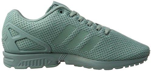 adidas Zx Flux, Scarpe da Ginnastica Basse Uomo, Turchese Turchese (Vapour Steel/vapour Steel/vapour Steel)
