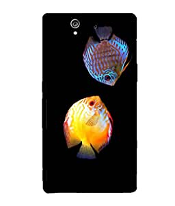printtech Colored Fish Back Case Cover for Sony Xperia Z::Sony Xperia Z L36h