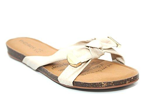 Femme Blanc en cuir souple Semelle intérieure CONFORT Eva Sandales Tongs Taille 3–8 Blanc - blanc