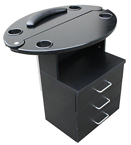 Mini-Bedienplatz schwarz, Tischplatte schwarz - KLEINE LACKKRATZER - EXTREM REDUZIERT