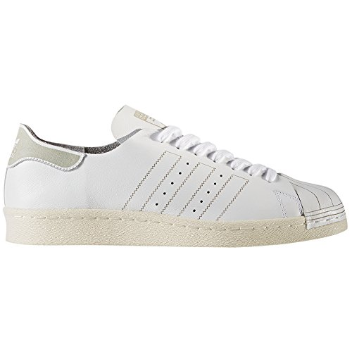 adidas Originals Superstar 80 Blanc pour Hommes, Cuir,Baskets (44 EU, White/Vintage White)