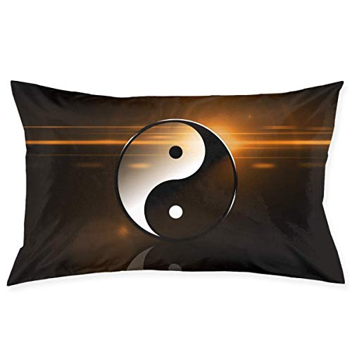 Yin Yang Taichi Art Double Printed 100% Polyester Standard Pillowcases Super Soft Cover Home Decorative Sleeping ()