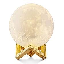 ALED LIGHT, DEFINITELY Ihre beste Wahl! ALED LIGHT STORE ist der einzige legale Verkäufer für die Mondlampe, wählen Sie ALED LIGHT STORE, wählen Sie die beste Qualität!  Das wirkliche Aussehen des Mondes zeigend, ist das ausgegebene Licht der Lampe n...