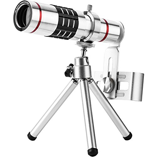 Jinxuny Kit Objectif d'appareil Photo Universel pour téléphone Portable, Objectif Zoom Optique téléobjectif avec trépied