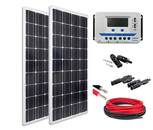 enjoysolar® Solar Set BasicSET 2*Mono 100Watt VS3024AU ideal für E-Bike aufladen