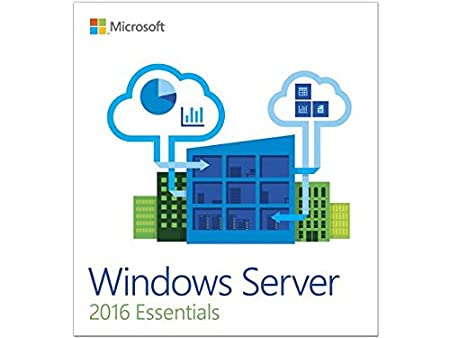 OEM Windows Server 2016 Essential 64-Bit 1 Server, 2 CPU DVD 1 Pack|Essential|1|9 Years|Windows|Disc