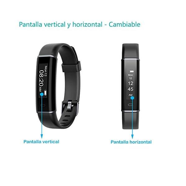 willful Pulsera Actividad, Pulsera Actividad Inteligente Impermeable IP67 Pulsera Inteligente para Deporte Smartwatch Pulsera Deporte Mujer Hombre Niños Pulsera para Android iPhone iOS Smartphone 8