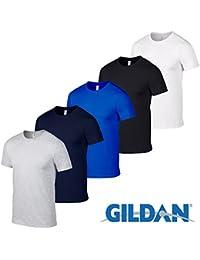 Paquet de 5 Gildan SoftStyle doux style Hommes T-shirts Toutes les tailles et couleurs