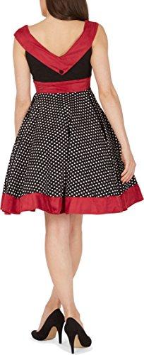 'Sylvia' Vintage Polka-Dots Pin-up-Kleid - 3
