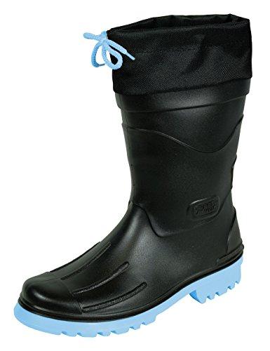 MADSea Herren Jungen Gummistiefel Nils-Hannes Halbschaft Regenstiefel schwarz, Größe:43 EU, Farbe:schwarz/hellblau