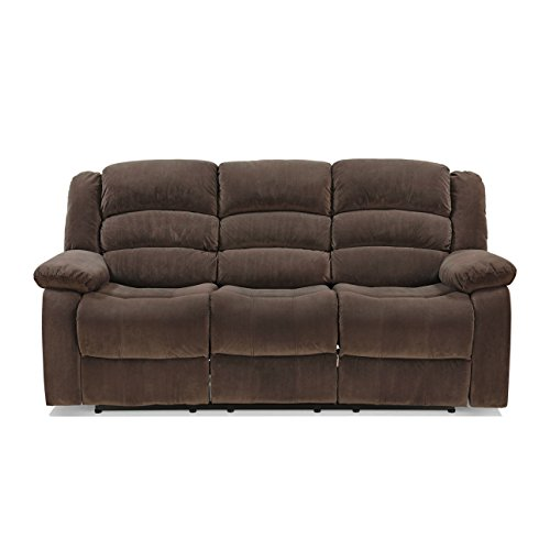 Royaloak Parker Three Seater Recliner (Brown)
