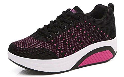 Foto de Hishoes Deporte Zapatos de Mujer Casuales Verano Zapatos de Moda Cómodo Corriendo Andar Atlético Zapatilla de Exterior Para Chicas Señoras
