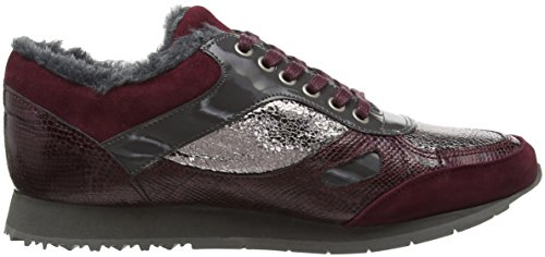 Piazza 850329, Baskets Basses Femme Rouge - Bordeaux