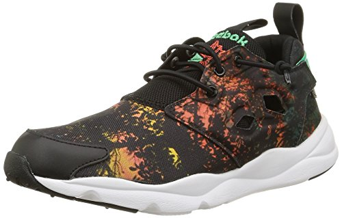 Reebok Furylite Sr, Baskets Basses Homme multicolore (Black/Green/Rosette)