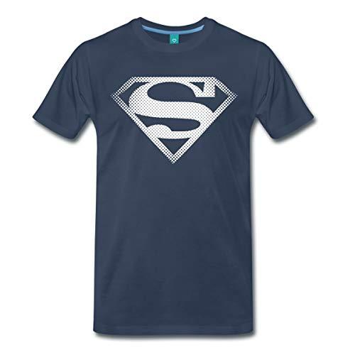 Spreadshirt DC Comics Originals Superman Retro Symbol Männer Premium T-Shirt, M, Navy