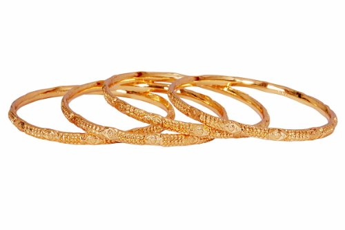 JEWBANG Gold plated plain bangles for women n college girls-JB525B