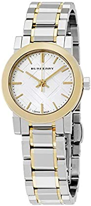 Burberry Women's Silver Dial Stainless Steel Band Watch - BU9217, Analog, Qu