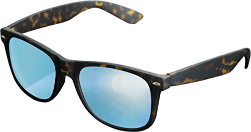 MSTRDS Likoma Mirror Unisex Sonnenbrille Für Damen und Herren mit verspiegelten Gläsern, amber/blue