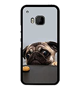 printtech Cute Dog Food Back Case Cover for HTC One Hima