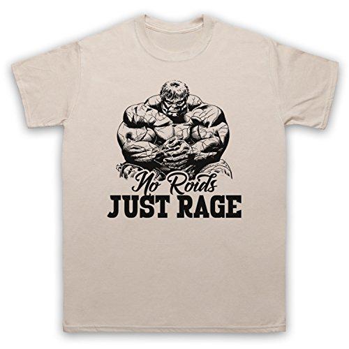 No Roids Just Rage Bodybuilding Culture Slogan Herren T-Shirt Beige