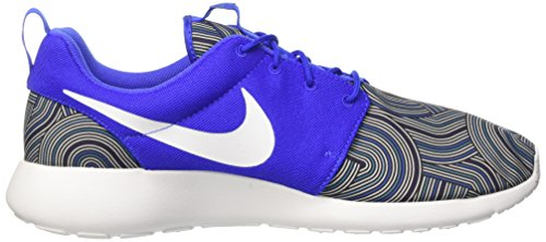 Nike Roshe One Print, Chaussures de Course Homme Varios colores (Bleu / Blanc / Grey (Racer Blue / Blanc-Bl Gry-Bl Lgn))