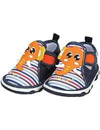 Mee Mee First Walk Baby Shoes with Chu Chu Sound (22 EU, Red)