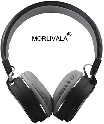 Morlivala SH12 Wireless Bluetooth Headphone for All Mobile with Mic with FM and SD Card Slot with Music and Calling Controls (Black)