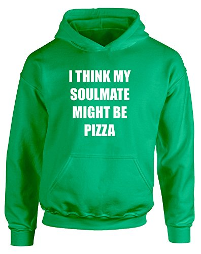 soulmate-might-be-pizza-enfants-imprime-a-capuche-vert-blanc-9-11-ans