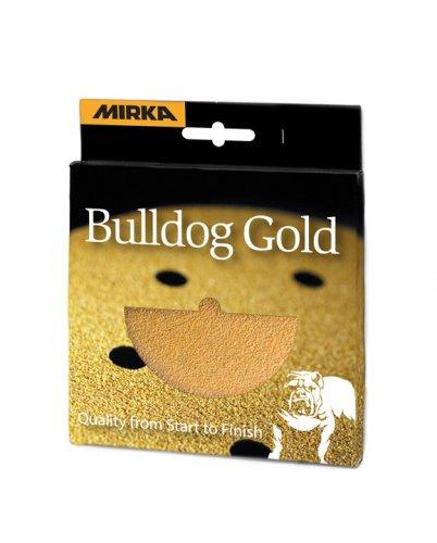 Preisvergleich Produktbild Mirka 23-612 APRP 5 cm-ohne Loch-grip Hantelscheiben-Set, Gold (2ea.80,100,120,150,180,220)