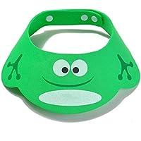 SYGA Bathing Shower Cap, Kids Bath Cap, Adjustable Baby Shower Caps - Frog Style