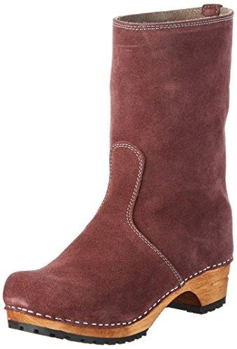 Sanita - Charlotta Boot, Stivali a metà polpaccio con imbottitura leggera Donna Viola (Violett (Aubergine/Stone 49))