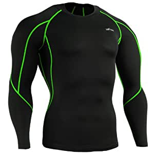 emFraa Homme Femme Sport Compression Black Base layer Tee-Shirt Long sleeve S