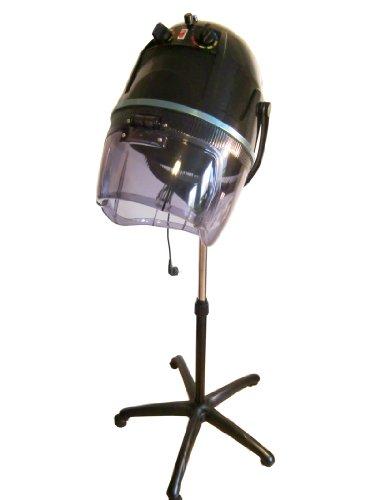 FIGARO Trockenhaube Haartrockner mit Stativ und permanenter IONIC-Funktion Farbe schwarz