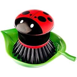 Vigar Ladybug - Cepillo lavaplatos con bandeja - [Pack de 2]