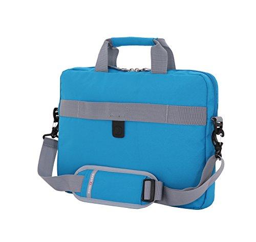 Best swiss gear backpack in India 2020 Swiss Gear Cross Body Laptop Sleeve Carrying Case, Blue Image 3