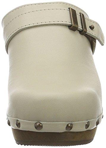 Sanita Elsa Plateau Open, Sabots Femme Blanc - Weiß (off-white 11)