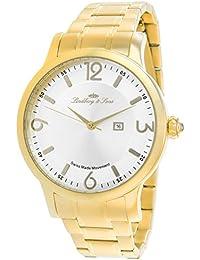 Lindberg & Sons LSSM200 - Reloj para hombre de cuarzo con correa de acero inoxidable color dorado